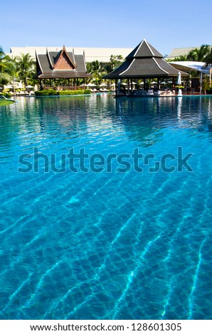 Beautiful swimming pool in Thailand