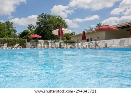 Beautiful swimming pool with nobody - stock photo