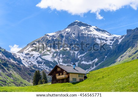 Swiss Mountain House mountain swiss house wooden stock images, royalty-free images