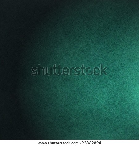 beautiful teal green blue background illustration design with elegant dark vintage grunge texture and black vignette frame on side border with empty blank copy space for ad or brochure - stock photo