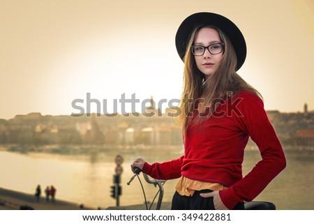 Beautiful teenager's portrait - stock photo