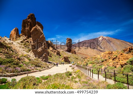 beautiful Teide National Park in Tenerife, Canary Islands, Spain