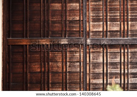 Beautiful texture of the japanese old fashioned style house wall