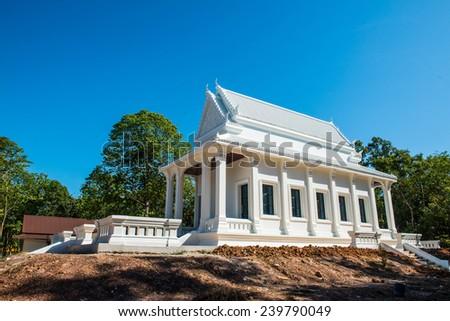 Beautiful Thai church under construction, Thailand. - stock photo