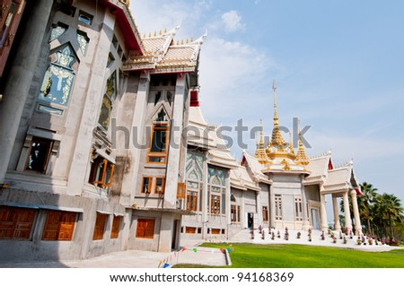 Beautiful Thai style church at Nakhonratchasima province, Thailand.