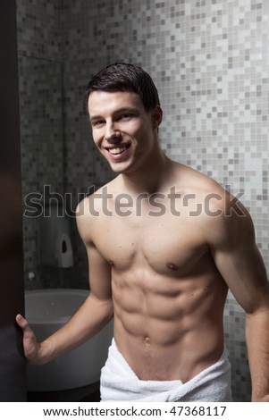 Beautiful Torso Man - stock photo