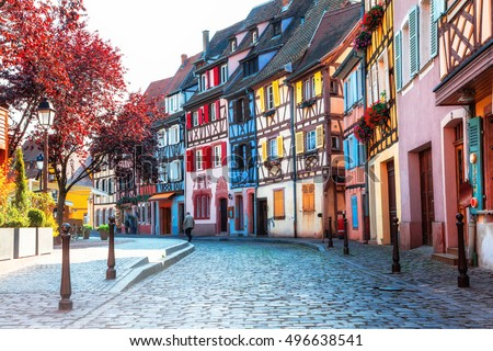 Beautiful towns of France - Colmar, with colourful half-timbered houses
