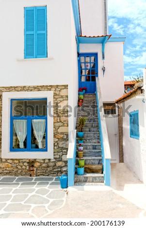 Beautiful traditional mediterranean house.  - stock photo