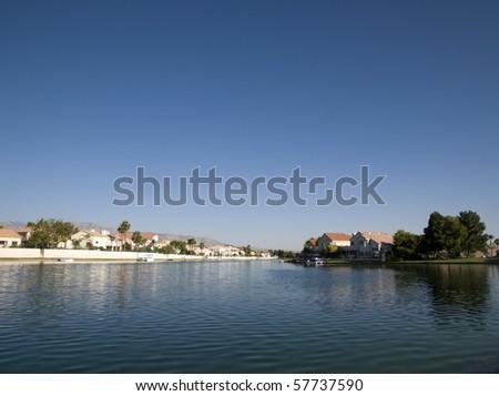 Beautiful tranquil lake - stock photo