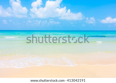 Beautiful tropical beach and sea landscape -Boost up color Processing