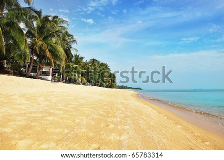 Beautiful tropical beach in Koh Samui, Thailand - stock photo