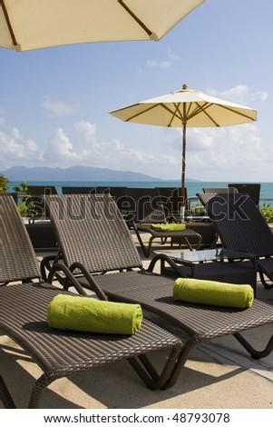 Beautiful tropical beach in Thailand. - stock photo