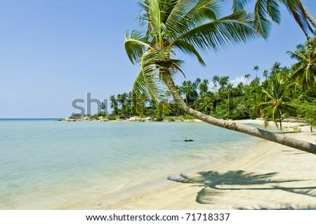 Beautiful tropical beach, Ko Pha Ngan, Thailand. - stock photo