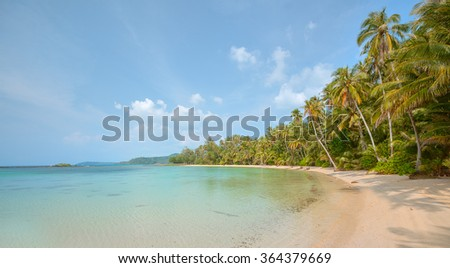 Beautiful tropical beach landscape at koh kood island,Thailand