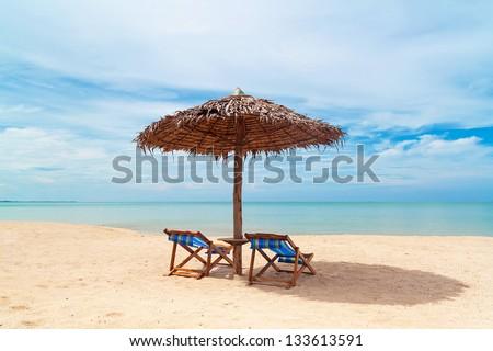 Beautiful tropical beach on Koh kho khao island in Thailand - stock photo