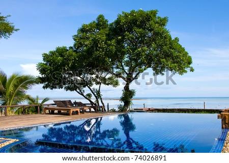 Beautiful tropical beach  , Thailand - stock photo
