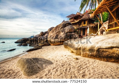 Beautiful tropical beach. Thailand - stock photo