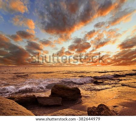 Beautiful tropical decline, Turkey - stock photo