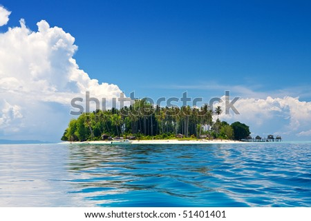 Beautiful tropical island in the sun