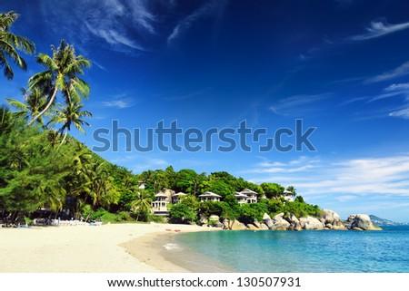 Beautiful tropical landscape. Samui Island, Thailand. - stock photo