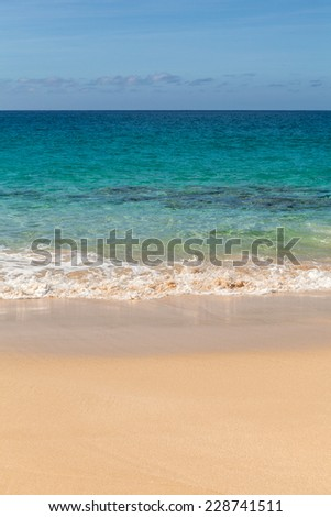 Beautiful tropical paradise beach in Isla Graciosa, Canary Islands, Spain.