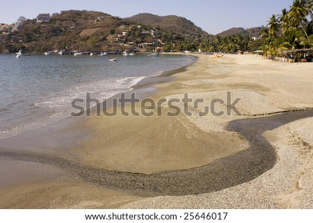 Beautiful tropical sandy beach