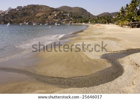 Beautiful tropical sandy beach - stock photo