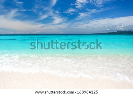 Beautiful tropical scene  - stock photo