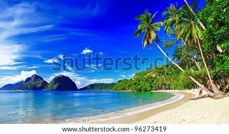 beautiful tropical scenery - el-nido,palawan - stock photo