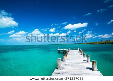 beautiful tropical sea - stock photo