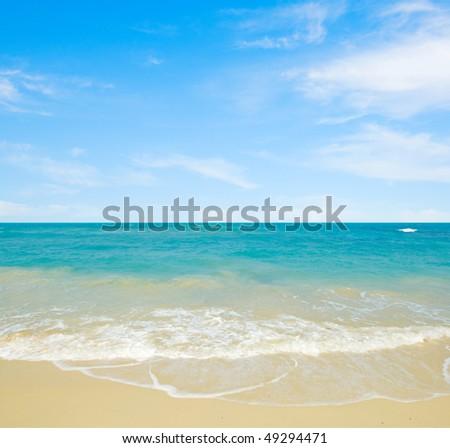 Beautiful tropical seascape. Sunny day. - stock photo