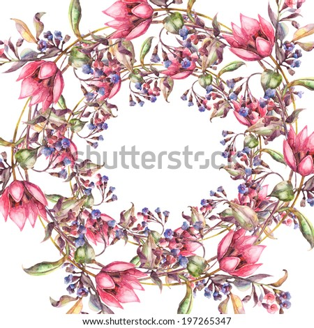 Beautiful Tulip Spring Flowers Frame Template Stock Illustration ...