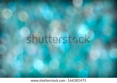 Beautiful Turquoise Aqua Abstract Bokeh Background - stock photo