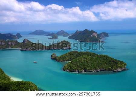 beautiful turquoise waters surrounding Ko And Thong in southern Thailand - stock photo