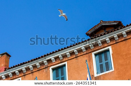 Beautiful  typical Venetian house, Italy - stock photo