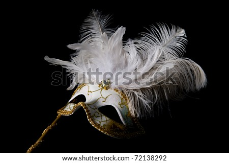 Beautiful Venetian Mask - stock photo
