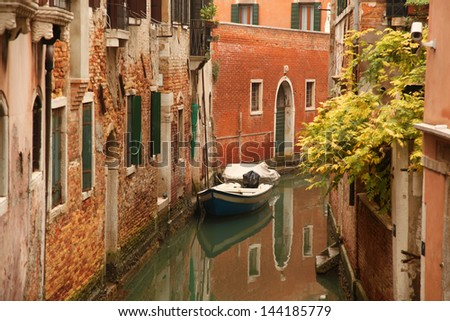 Beautiful Venice with canal in Italy - stock photo