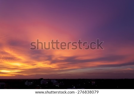 Beautiful Vibrant Sunset Sky