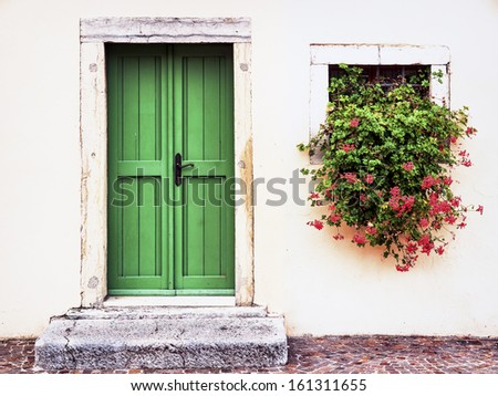 beautiful view at a historic building - stock photo