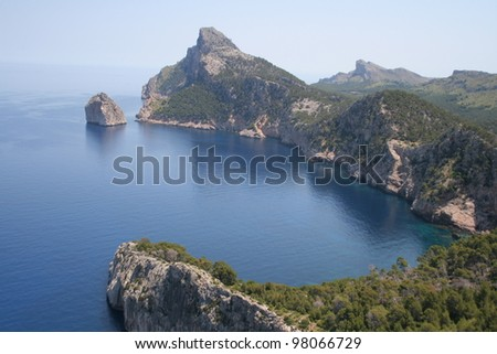 Beautiful view from  Formentor, Mallorca, Spain - stock photo