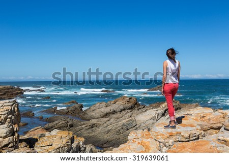 Beautiful view in Cape St. Francis in South Africa - stock photo