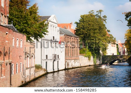beautiful view of Bruges  - stock photo