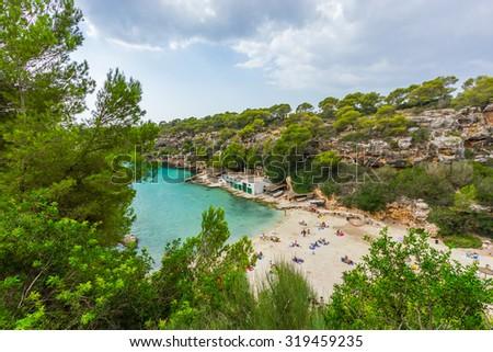 Beautiful view of Cala Pi Bay, Mallorca, Baleares, Spain - stock photo