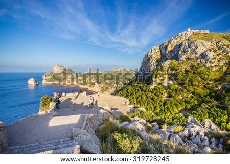 Beautiful view of Cap de Formentor, Mallorca, Spain - stock photo