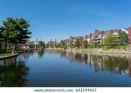 Beautiful view of Centennial Lakes Park Edina, Minnesota