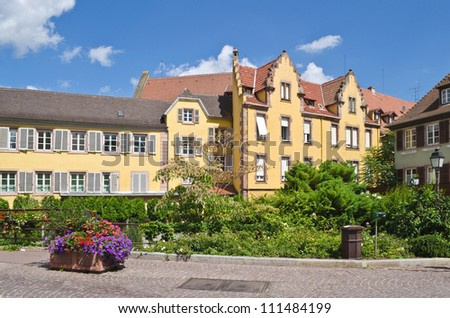 Beautiful view of Colmar, France - stock photo