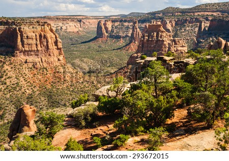 Beautiful View of Colorado National Monument - stock photo