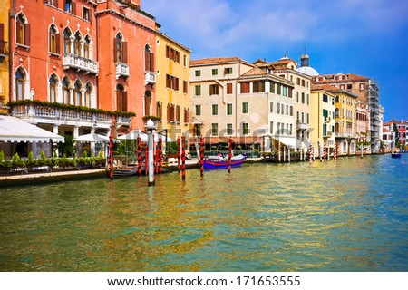 Beautiful view of famous Grand Canal in Venice, Italy - stock photo