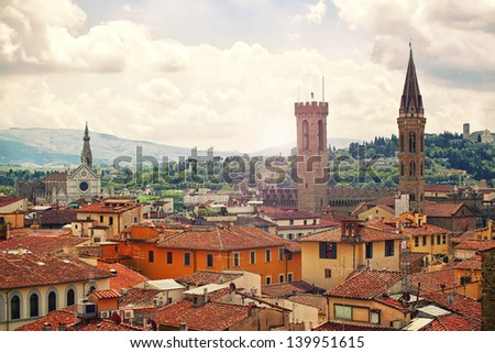 Beautiful view of Florence, Italy - stock photo