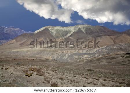 Beautiful view of Himalayan mountains, Annapurna Region, Nepal